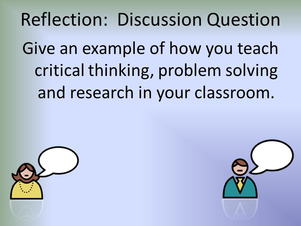 Reflection: Discussion Question