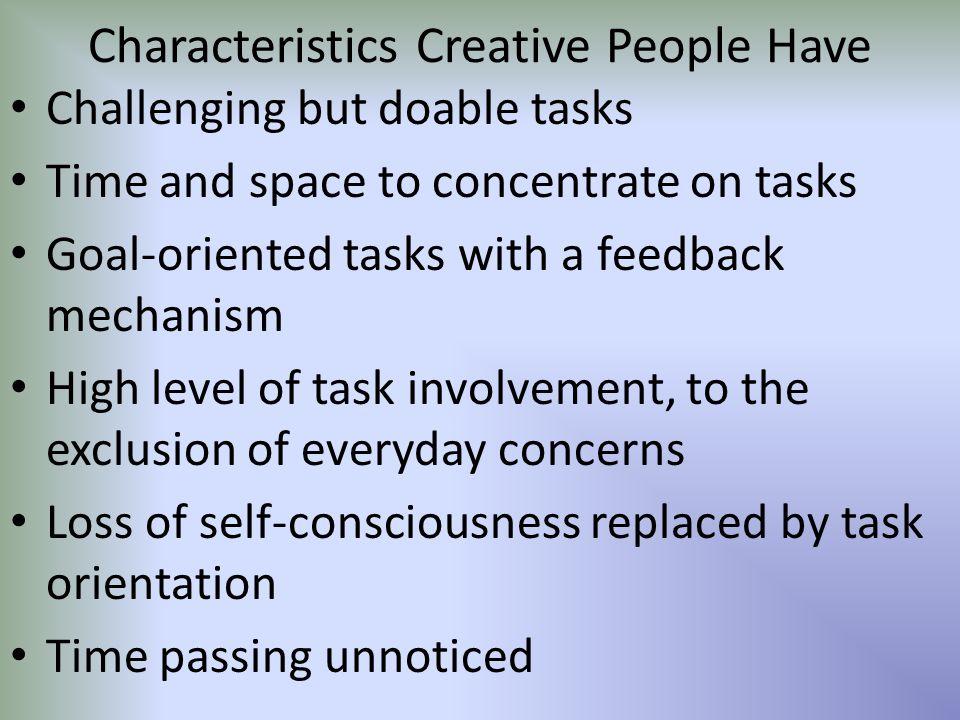 Characteristics Creative People Have