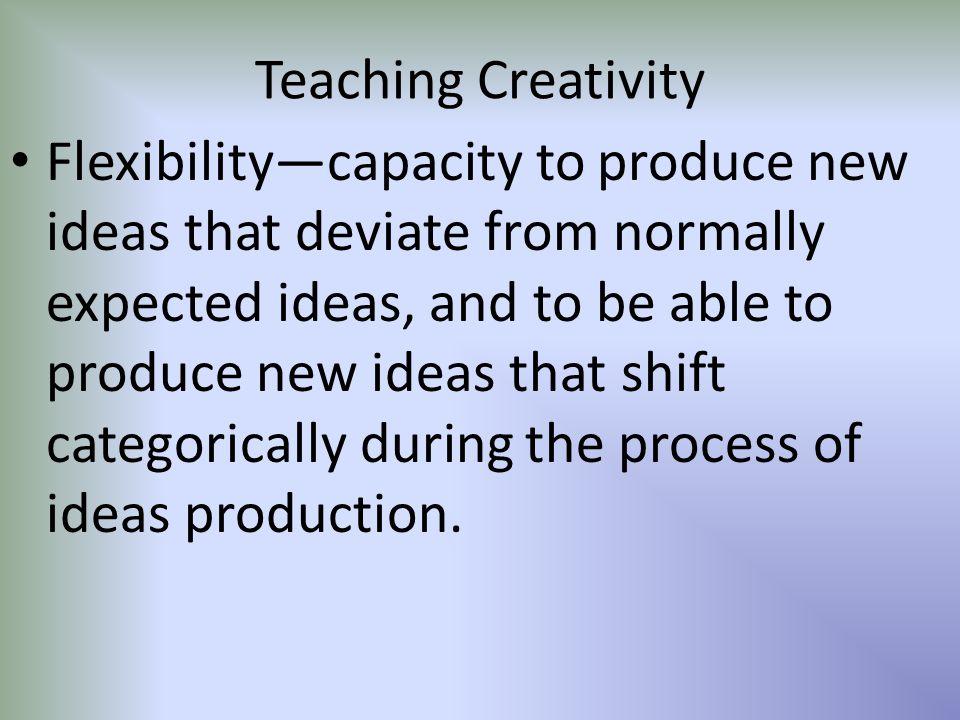 Teaching Creativity