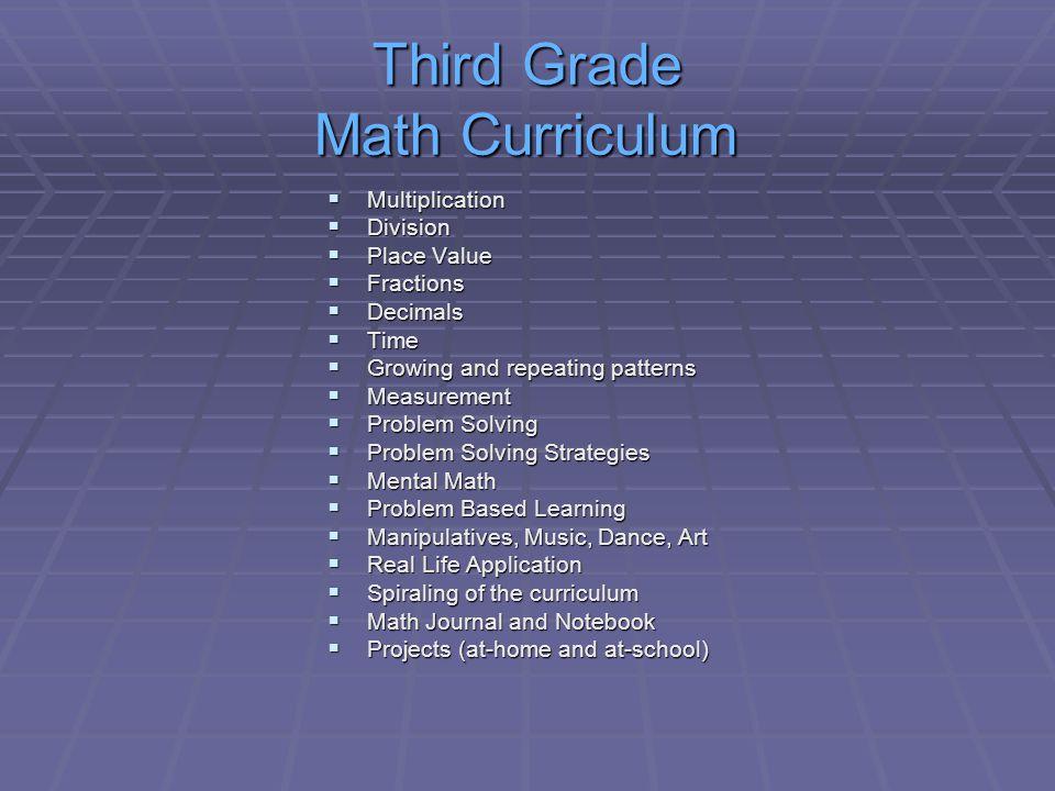 Third Grade Math Curriculum