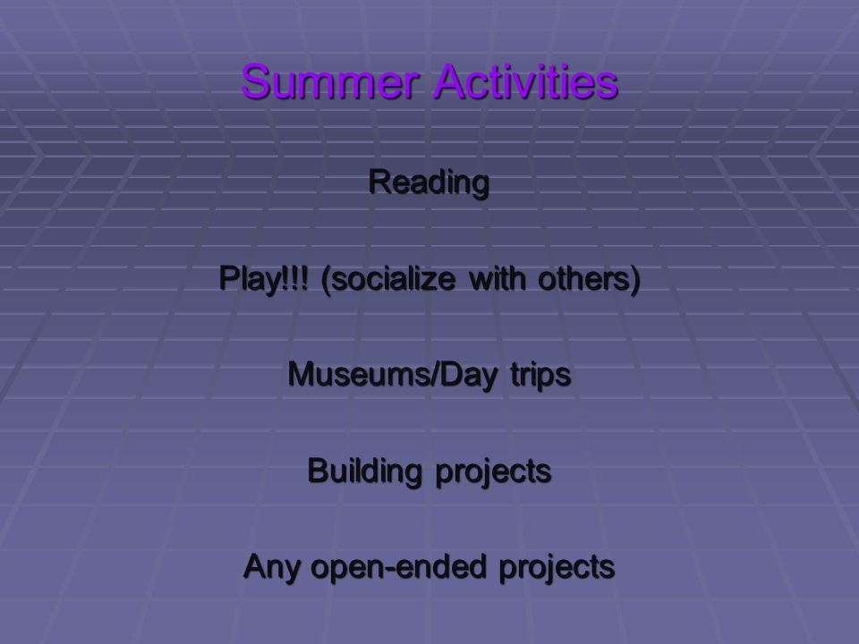 Summer Activities Reading Play!!! (socialize with others)