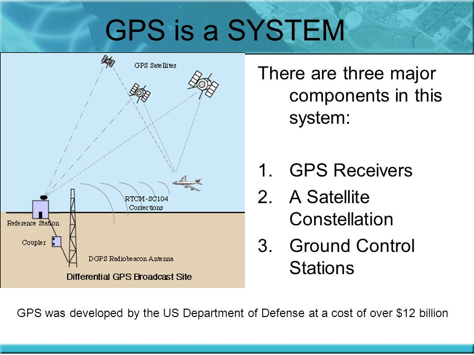 GPS is a SYSTEM There are three major components in this system: