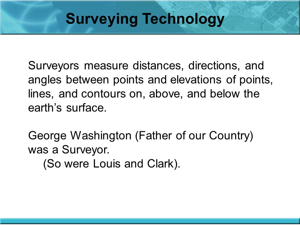 Surveying Technology