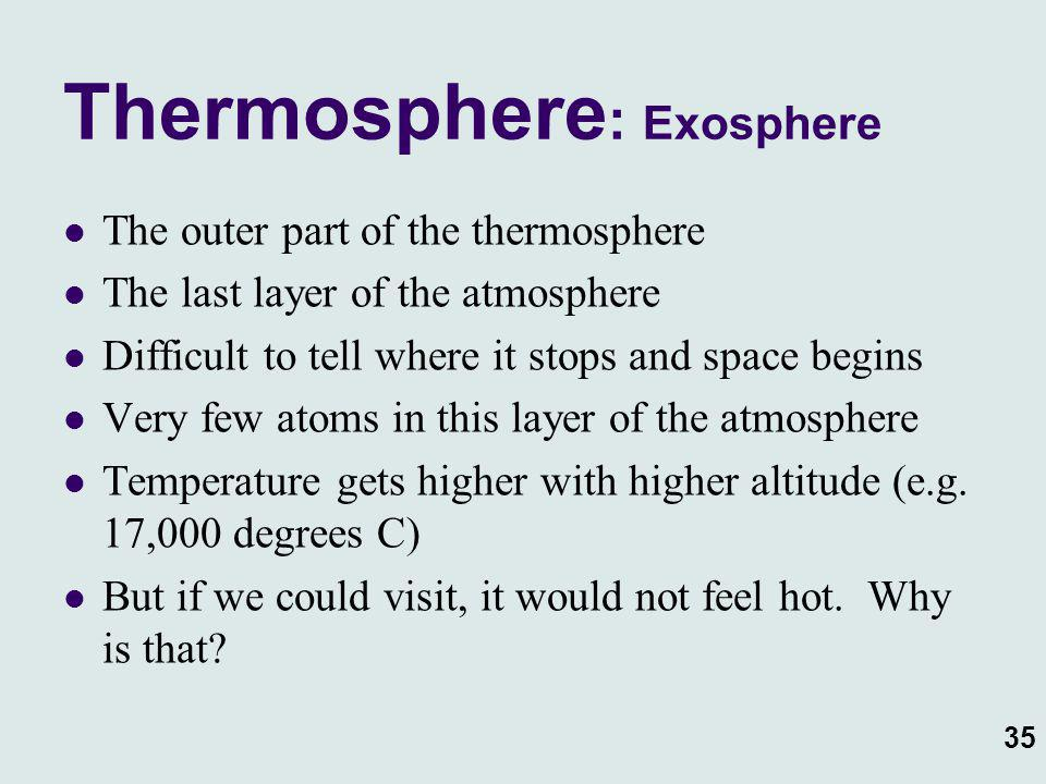 Thermosphere: Exosphere