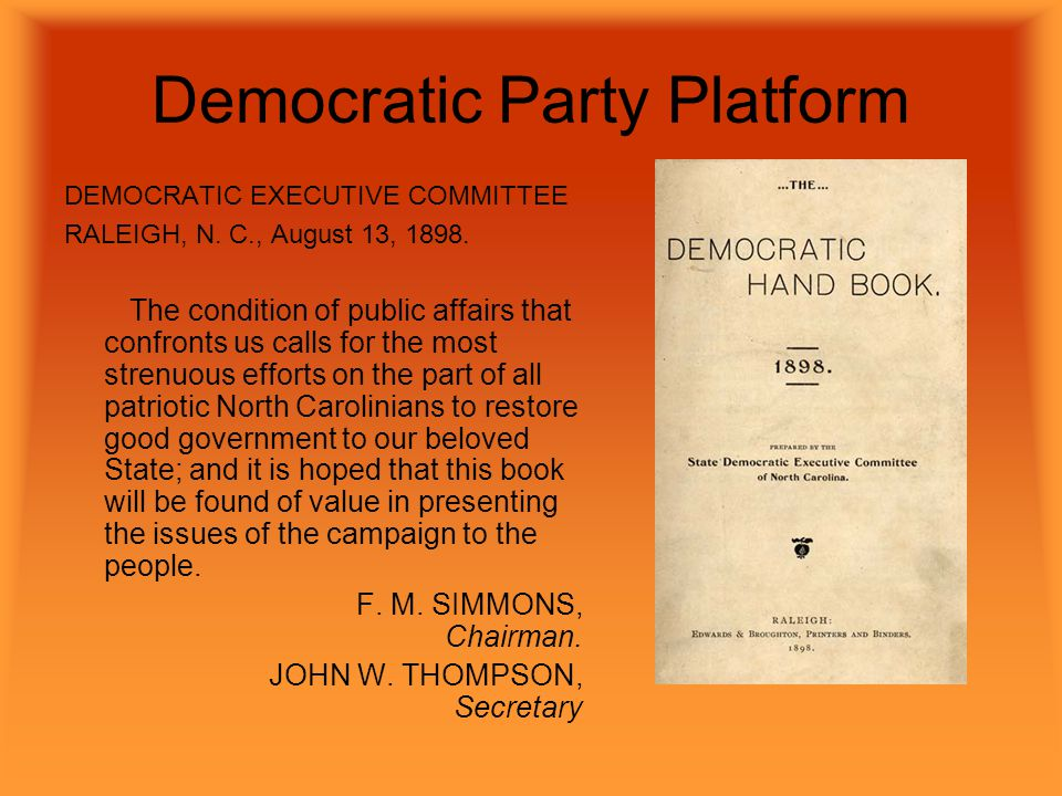 Democratic Party Platform