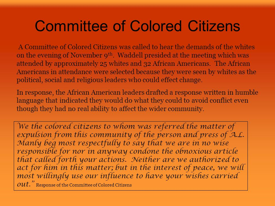 Committee of Colored Citizens