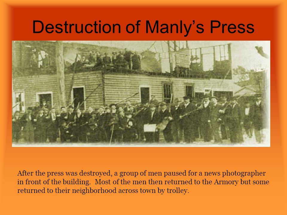 Destruction of Manly's Press