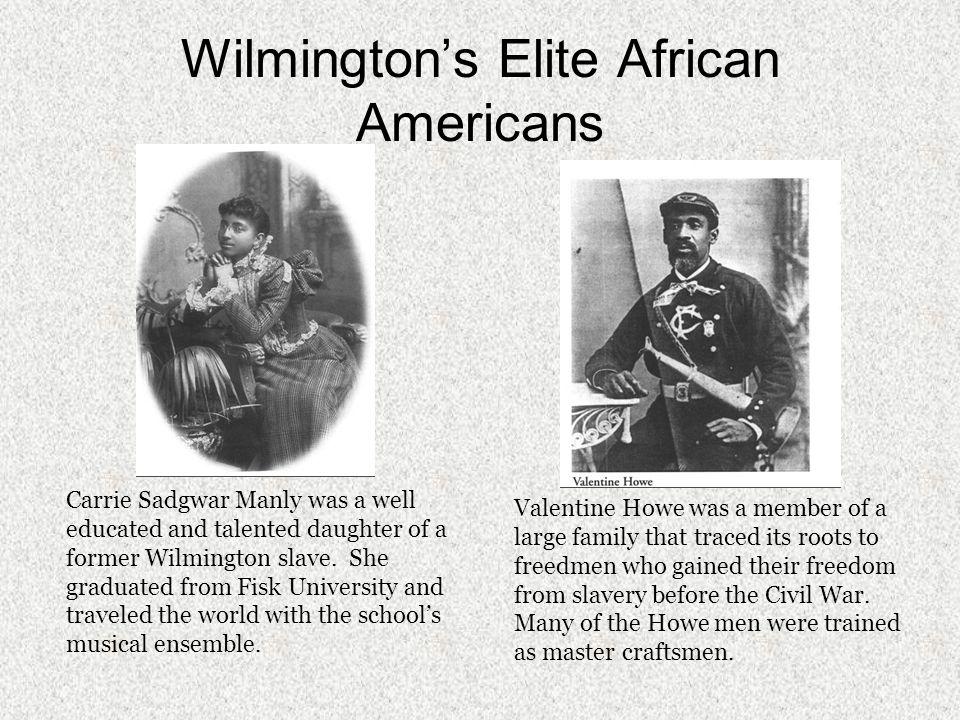 Wilmington's Elite African Americans