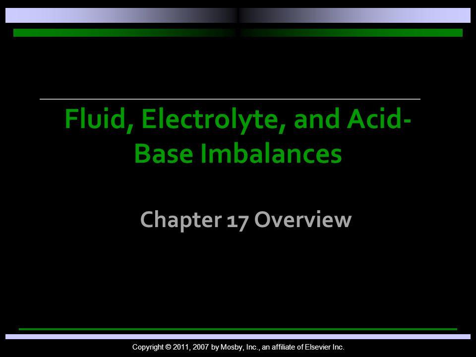 Fluid, Electrolyte, and Acid-Base Imbalances