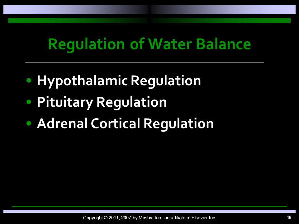 Regulation of Water Balance