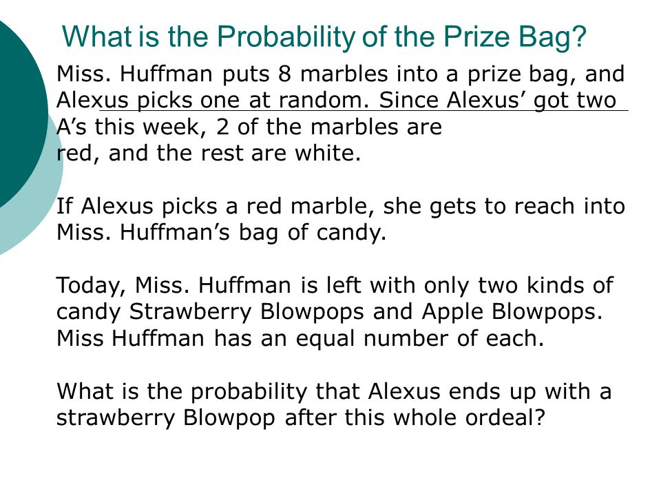 What is the Probability of the Prize Bag