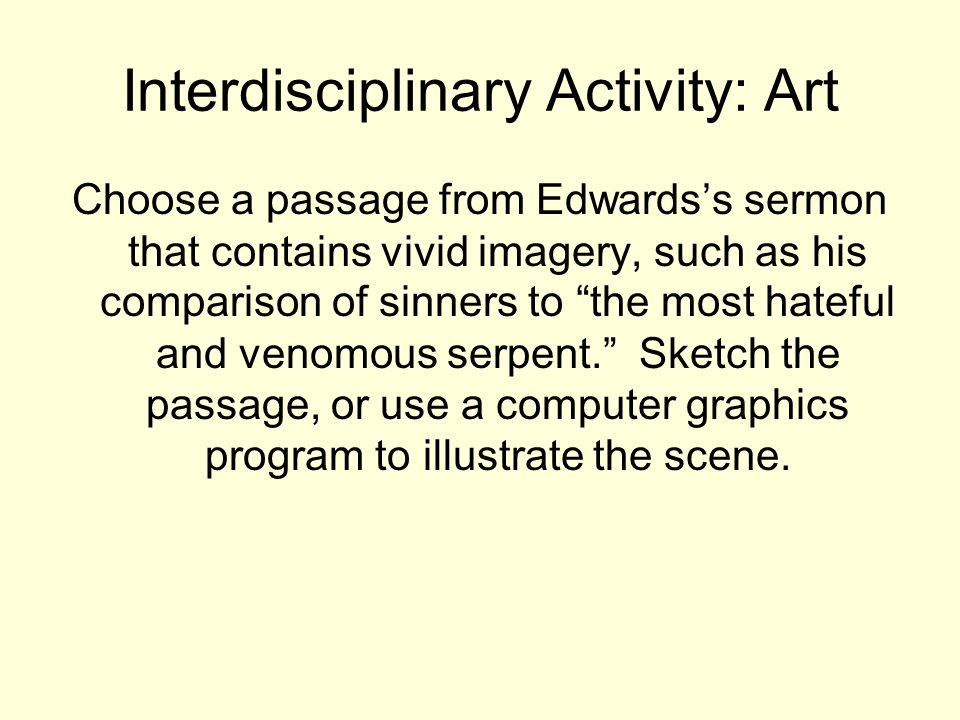 Interdisciplinary Activity: Art