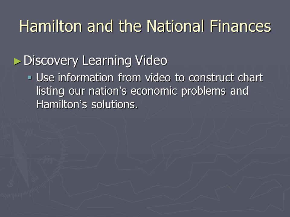 Hamilton and the National Finances