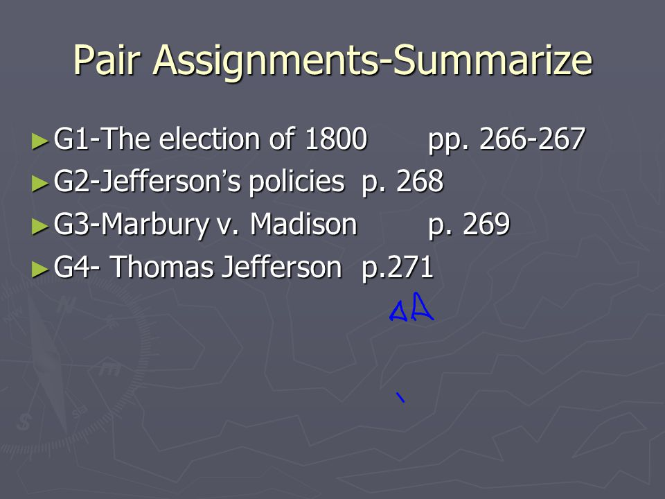 Pair Assignments-Summarize