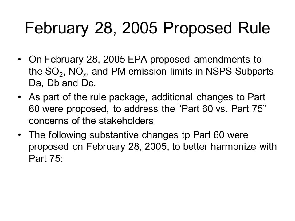 February 28, 2005 Proposed Rule