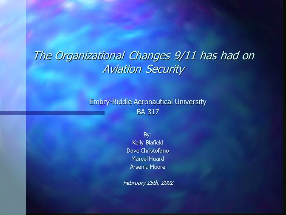 The Organizational Changes 9/11 has had on Aviation Security