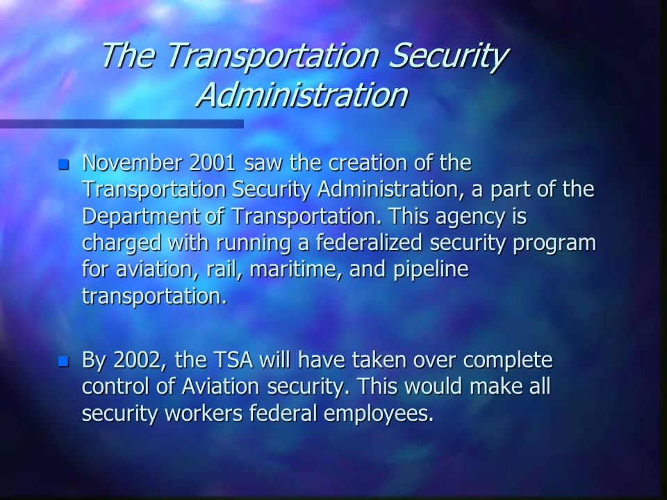 The Transportation Security Administration