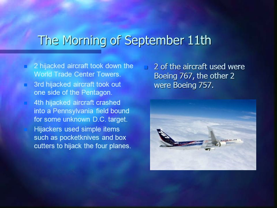 The Morning of September 11th