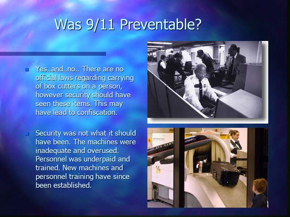 Was 9/11 Preventable