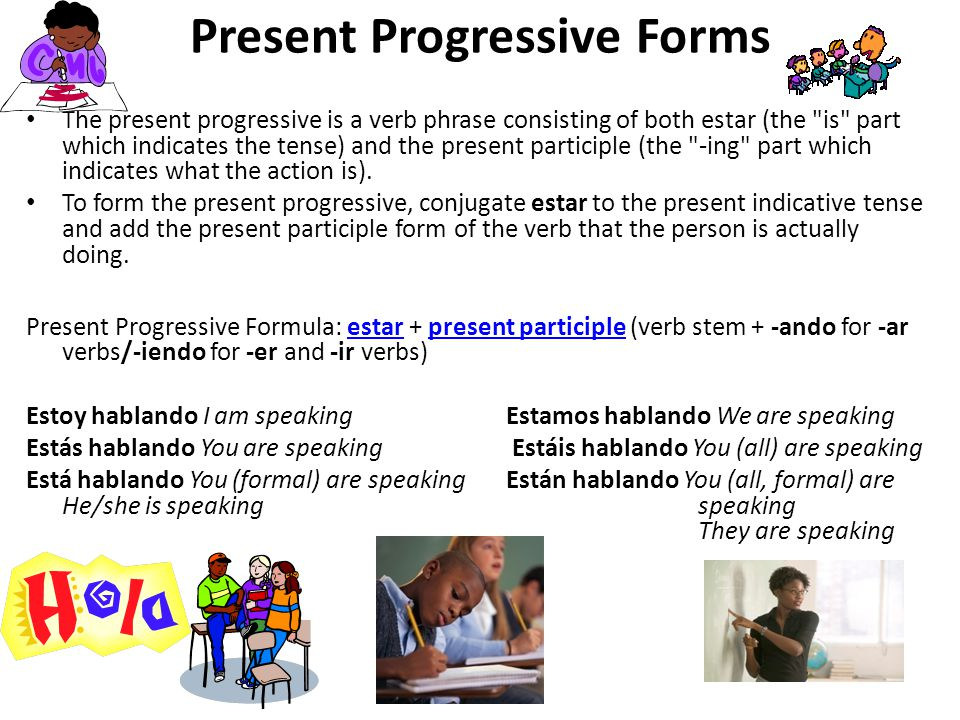Present Progressive Forms