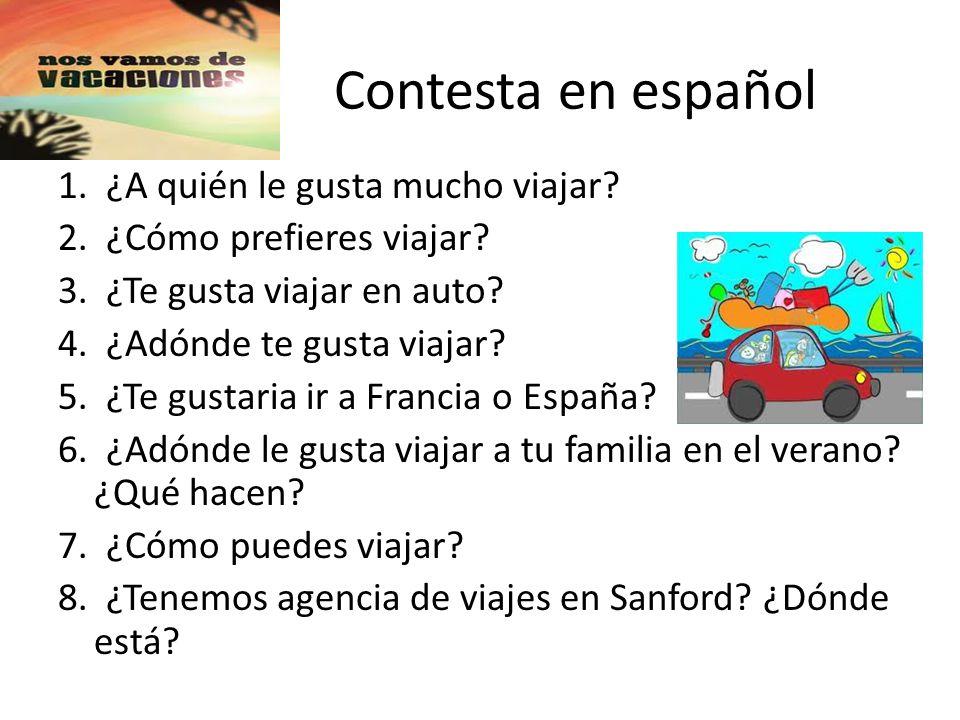 Contesta en español