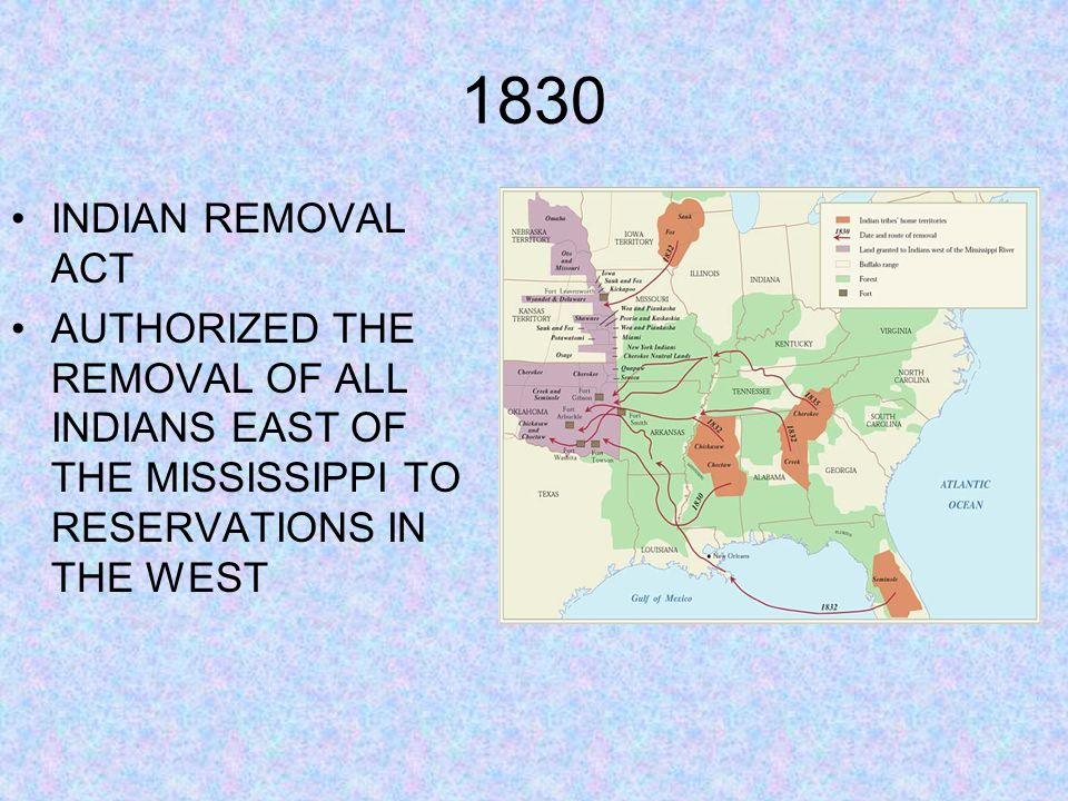 1830 INDIAN REMOVAL ACT.