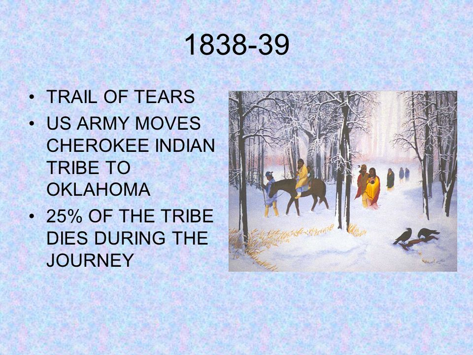 1838-39 TRAIL OF TEARS US ARMY MOVES CHEROKEE INDIAN TRIBE TO OKLAHOMA