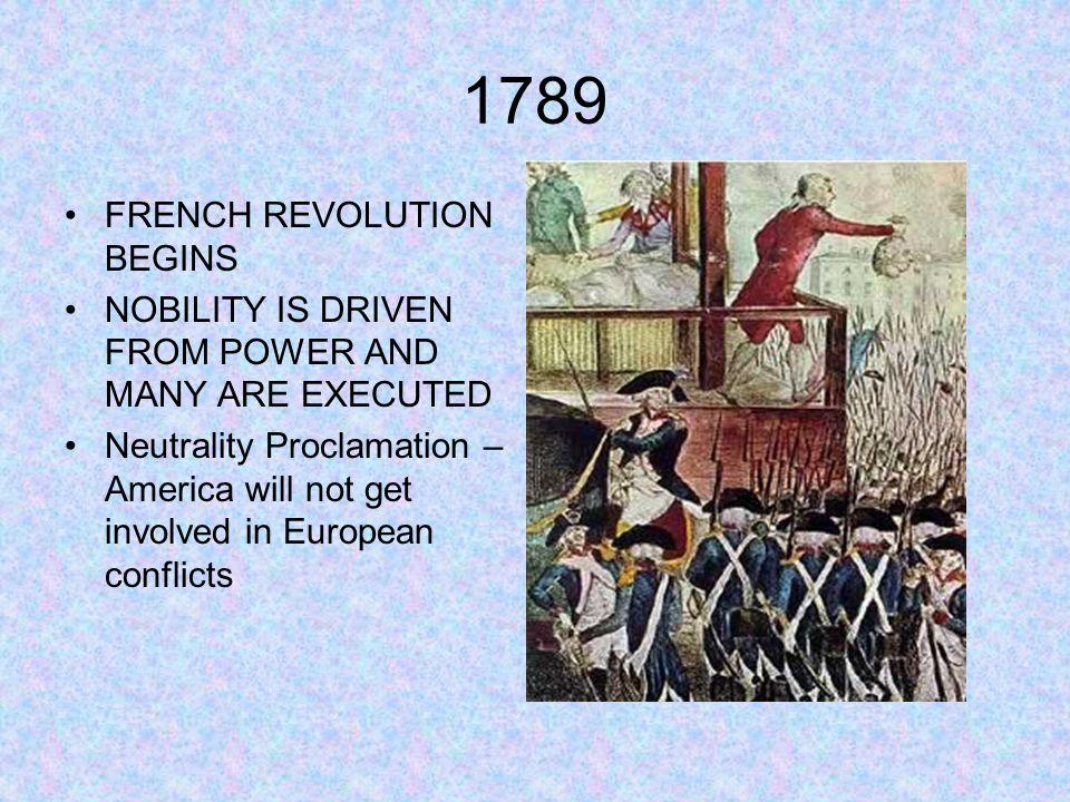 1789 FRENCH REVOLUTION BEGINS