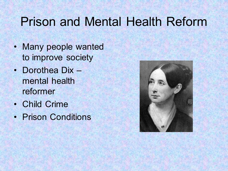 Prison and Mental Health Reform