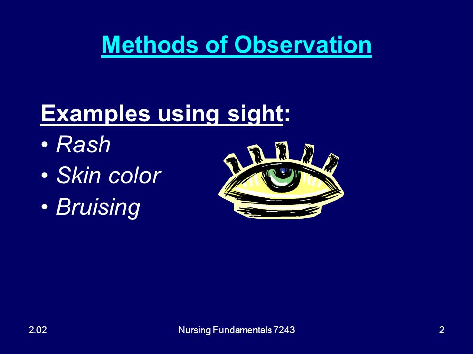 Methods of Observation