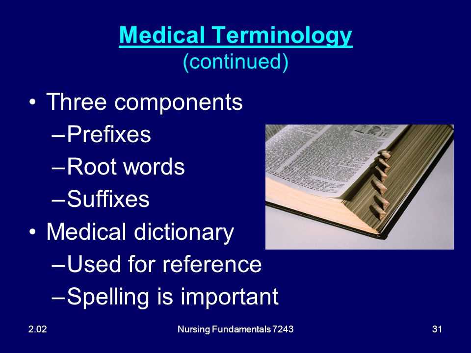 Medical Terminology (continued)