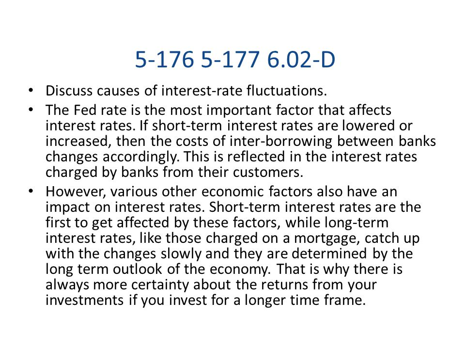 5-176 5-177 6.02-D Discuss causes of interest-rate fluctuations.