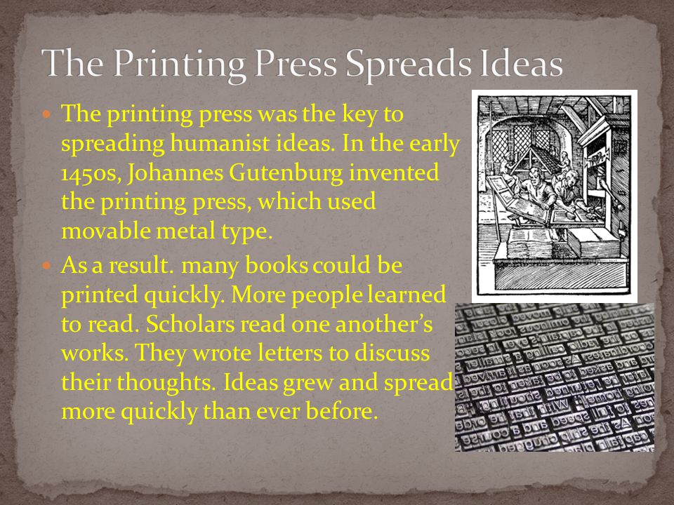 The Printing Press Spreads Ideas