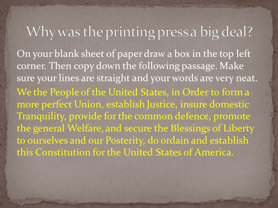 Why was the printing press a big deal