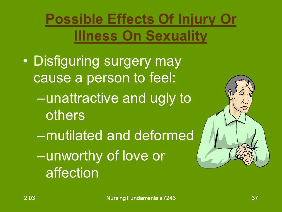 Possible Effects Of Injury Or Illness On Sexuality