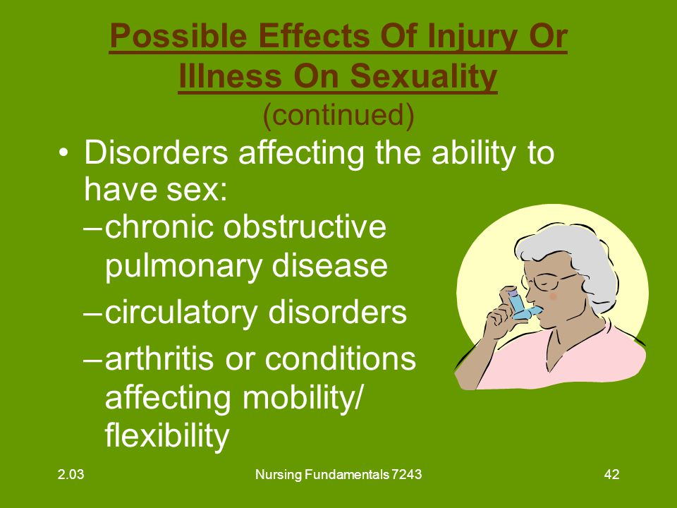 Possible Effects Of Injury Or Illness On Sexuality (continued)