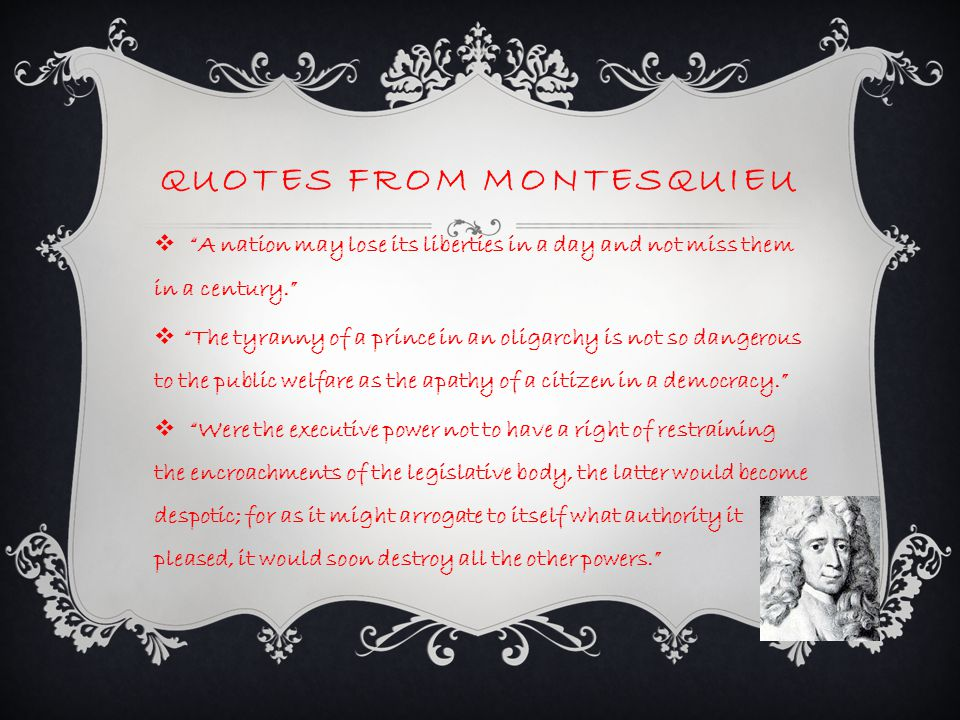 Quotes from Montesquieu