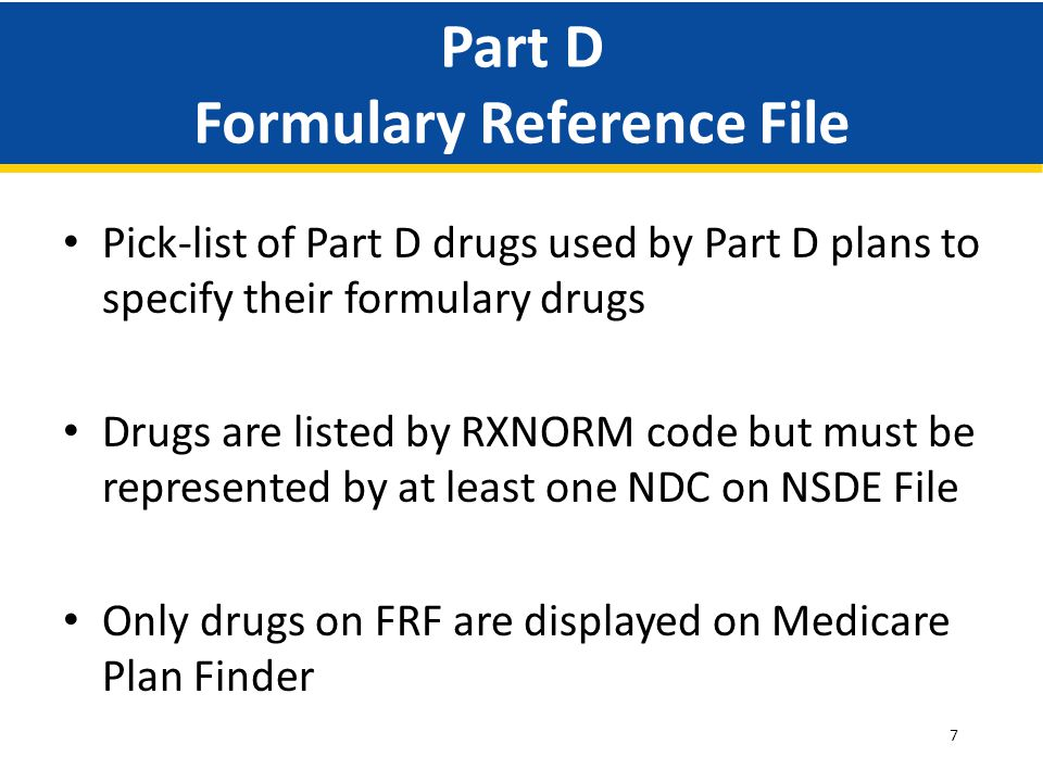 Part D Formulary Reference File
