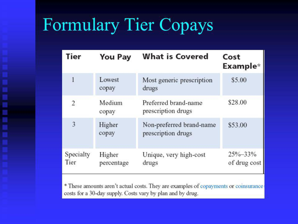 Formulary Tier Copays