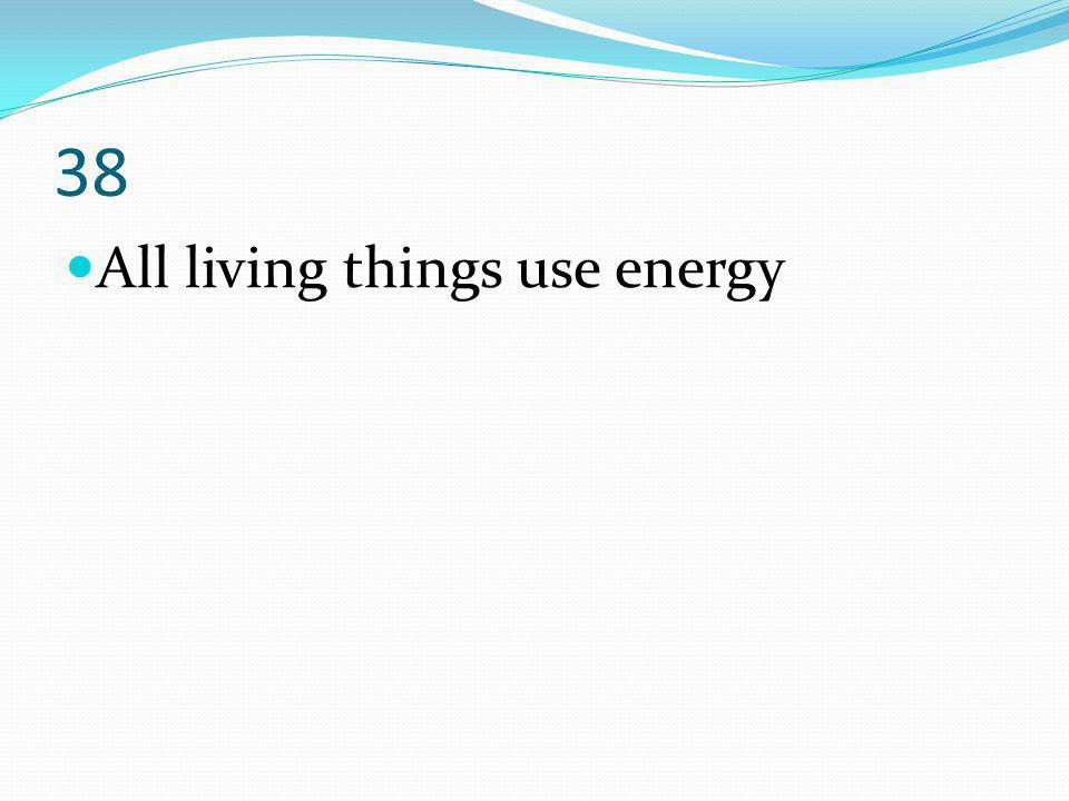 38 All living things use energy