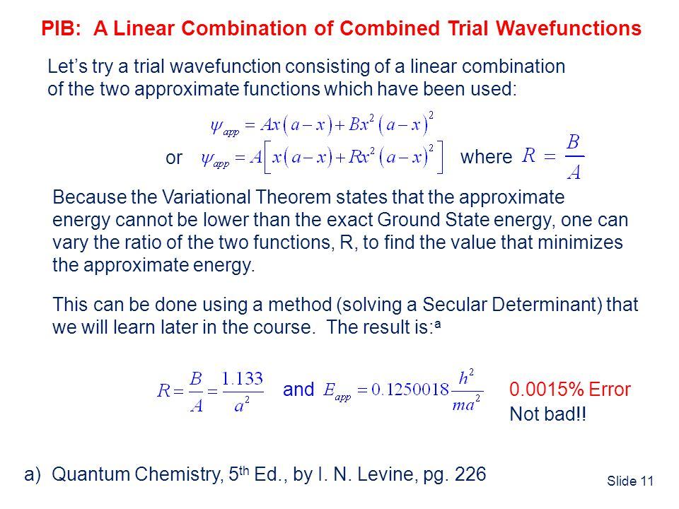 PIB: A Linear Combination of Combined Trial Wavefunctions