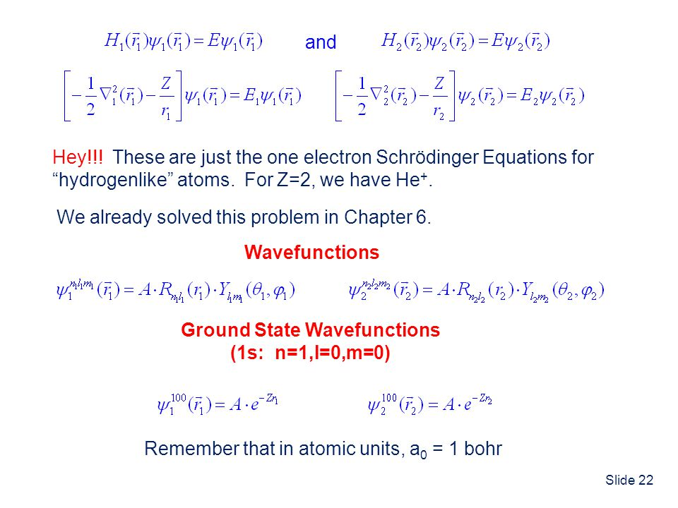 Ground State Wavefunctions