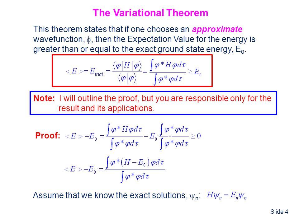 The Variational Theorem