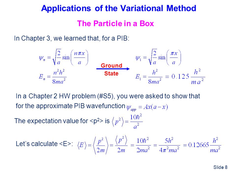 Applications of the Variational Method