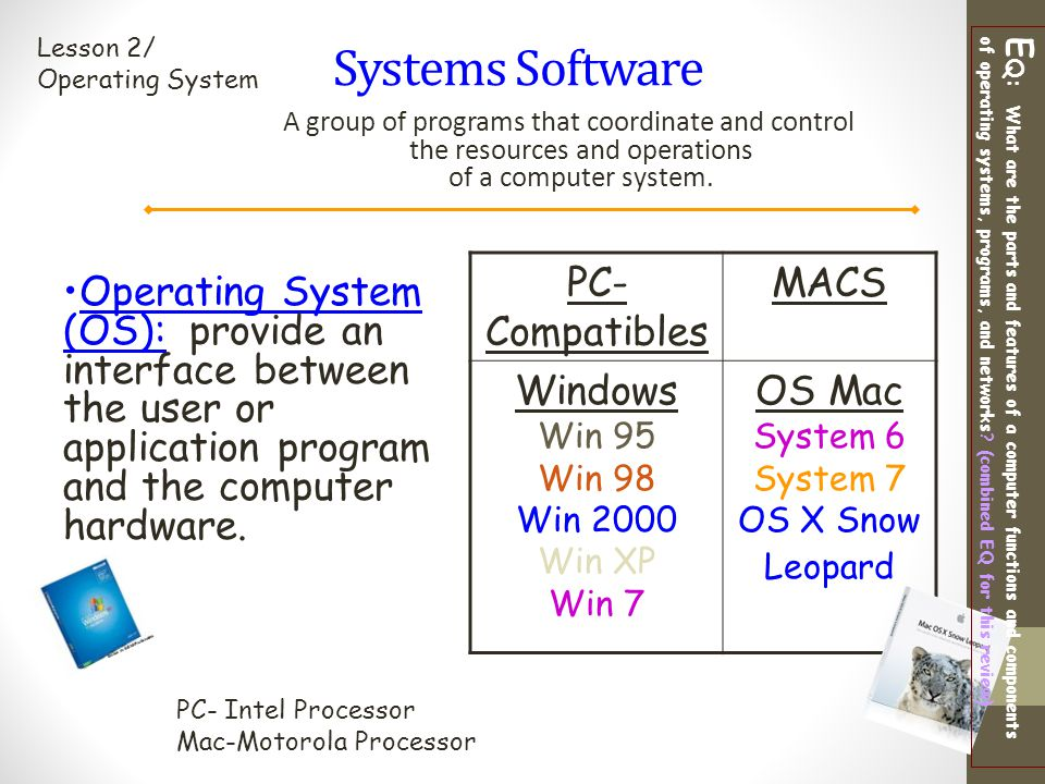 Systems Software PC-Compatibles MACS