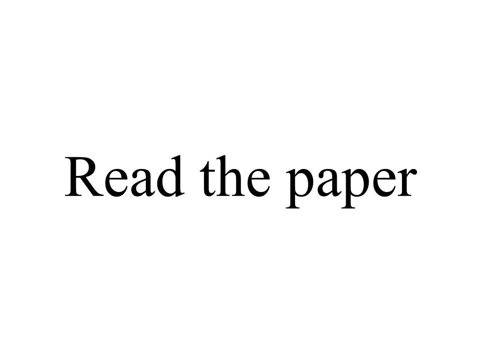 Read the paper