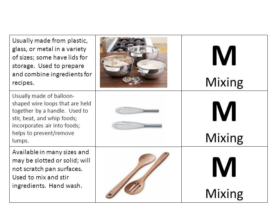 M M M Mixing Mixing Mixing