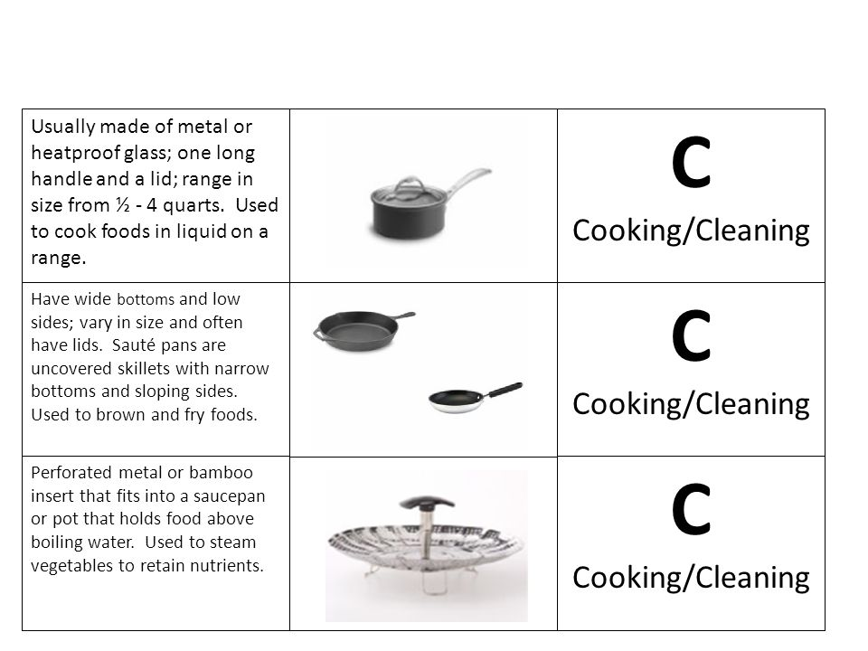 C C C Cooking/Cleaning Cooking/Cleaning Cooking/Cleaning