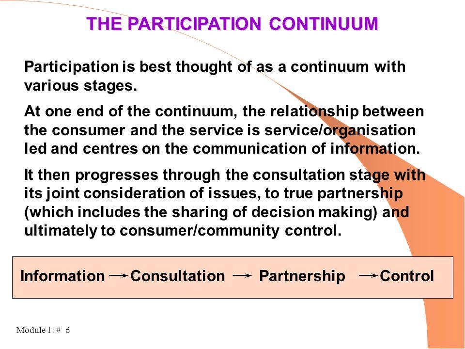 THE PARTICIPATION CONTINUUM
