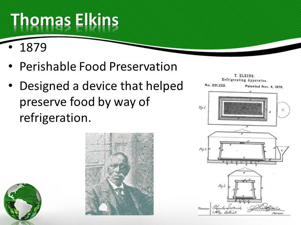 Thomas Elkins 1879 Perishable Food Preservation